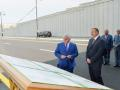 President Ilham Aliyev attended opening of another road junction in Baku - PHOTOS